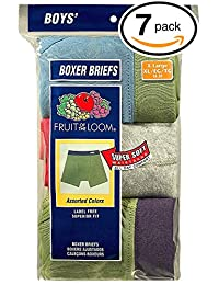 Fruit of the Loom boys 7pk Stripe Boxer Brief