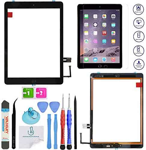 with adhesive Black with Tool Kit Digitizer Frame for Apple iPad 2