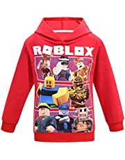 Thombase Children Roblox T-Shirt Kids' Games Family Gaming Team Tee Shirt Breathable Cotton Top for Girls Boys Teens