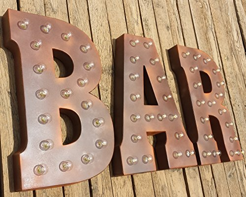 BAR - (rust finish) Large 21