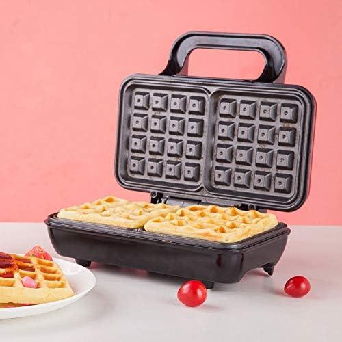 Gaufrier Professionnel Électrique Gaufrier, 2 tranches Ménagers Waffle Machine, Gaufrier non bâton, chauffage uniforme, chauffage double face, for deux Gaufres Waffle Maker