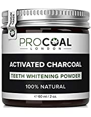 Activated Charcoal Teeth Whitening Powder by PROCOAL - 100% Natural Teeth Whitener Kit, Fluoride-Free Charcoal Teeth Whitening Toothpaste