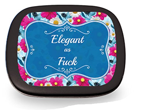 Stocking Tin - Elegant as Fuck Mints - Gag Gifts for Women- Sarcastic Gifts - Funny Mint Tins - Stocking Stuffers for Friends - Peppermint Breath Mints - Girlfriend Gift - Nasty Woman - Reality Mints