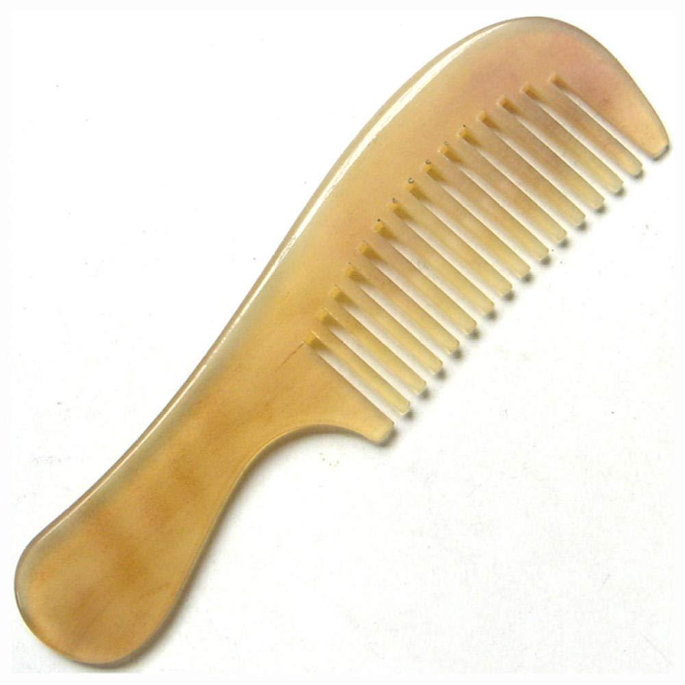 comb Gro/ßer Hornhornkamm breiter Zahnkamm Massagekamm glatter und einfach zu verwendender gelber 16CM breiter Zahn haark/ämme