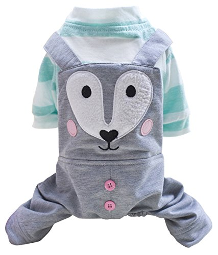 Costume Fox Homemade (Freerun Fashion Casual Soft Cotton Dog Hoodie Pet Clothes Cute Fox Print Pet Clothes Costumes - Green,)