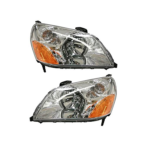 Headlight Set Of 2 for Honda Pilot 03-05 Right and Left Side Assembly Halogen (Following Honda Pilot)
