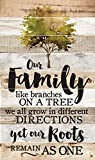 Our Family Roots Remain as One 47 x 28 Wood Large Barn Board Wall Art Sign Plaque
