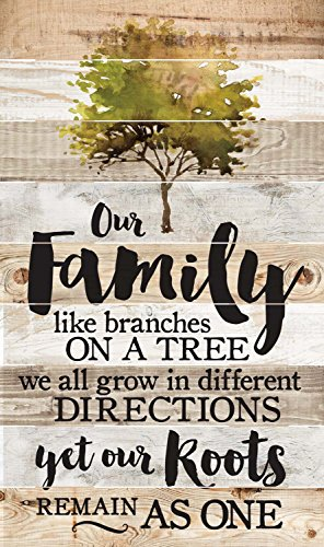 Our Family Roots Remain as One 47 x 28 Wood Large Barn Board Wall Art Sign Plaque by P Graham Dunn