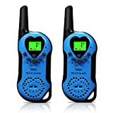 Walkie Talkies, 22 Channel Child Walkie Talkies 2 Way Radio 3 Miles (Up to 5Miles) UHF Handheld Walkie Talkie for Kids (Pair) (Blue)