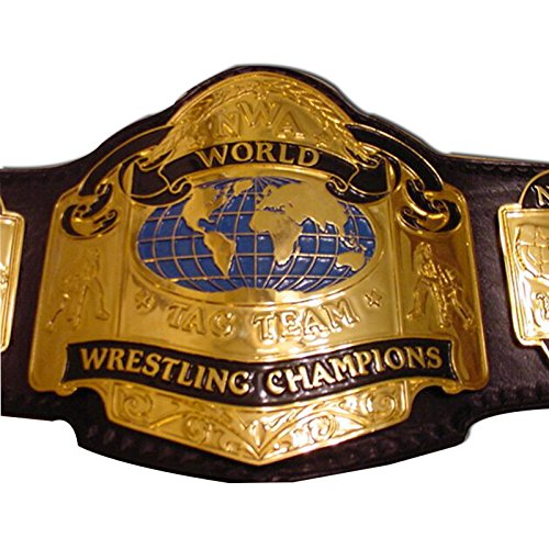 Haiosports NWA World Tag Team Replica Title Belt (Belt Nwa Replica)