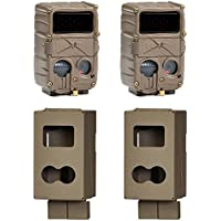 Cuddeback E3 Black Flash No Glow Infrared 20MP Micro Game Camera, 2 Pack + Cases