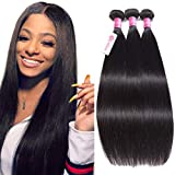 10A Brazilian Straight Human Hair Bundles 12 14 16inch Unprocessed Virgin Straight Hair 3 Bundles B-fashion Brazilian Remy Human Hair Weave Extensions Natural Color