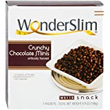 WonderSlim Crunchy Chocolate Minis High Protein Diet Snack (7 Servings/Box) - Trans Fat Free, Cholesterol Free