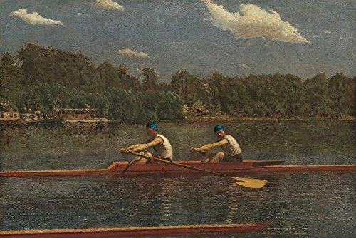 The Biglin Brothers Racing (Artist: Thomas Eakins) c. 1872 - Masterpiece Classic (12x18 Fine Art Print, Home Wall Decor Artwork Poster)