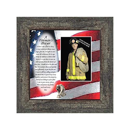 Fireman, Personalized Picture Frame for Firefighter Gifts, 10X10 6795BW