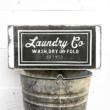 Farmhouse Laundry Decor   Laundry Sign   Laundry Room Decor   Laundry Room Sign   Wash Dry Fold   Laundry Today   Naked Tomorrow   Vintage Wall Hangings