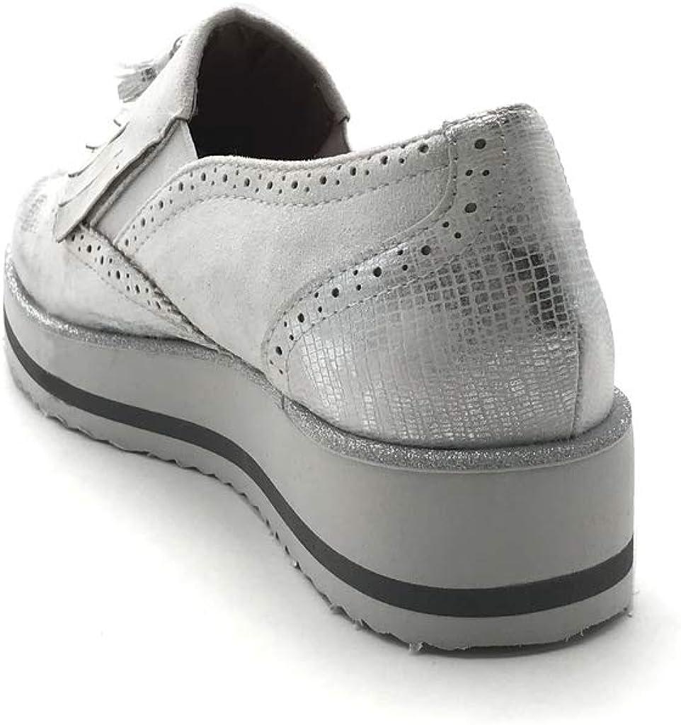 Womens Fashion Shoes Mocassins Fringe Pom Pom Big Sole Angkorly Vintage//Retro Metallic Crocodile Wedge Platform 3.5 cm