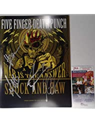 Signed Five Finger Death Punch Autographed Tour Book Certified Jsa # Dd47416