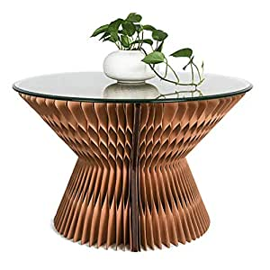 Amazon.com: ZZPAPER - Mesa de café plegable, material de ...