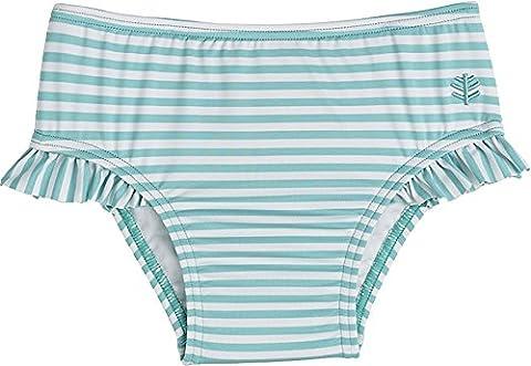 Coolibar UPF 50+ Baby Girls' Swim Diaper Cover - Sun Protective (12-18 Months - Tropical Mint Stripe)