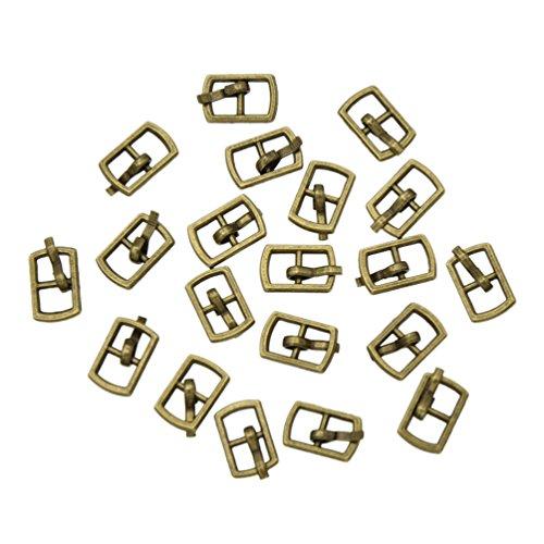 Towashine 20Pcs Mini Metal Pin Buckles Buttons 4.5mm Inner Diameter for Doll Clothes Shoes Bag Belt