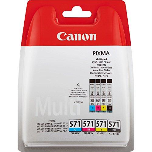 Canon CLI-571 Black, Cyan, Magenta, Yellow Ink Cartridge ()