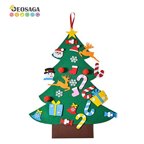 EOSAGA 3FT DIY Felt Christmas Tree Set with 26 Pcs Ornaments Home Door Decoration Wall HangingKids Gifts 1 Pack