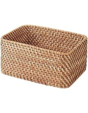 Muji Stackable Rectangular Rattan Box, Small
