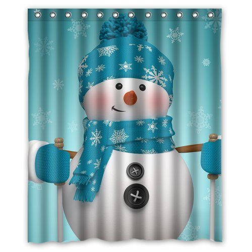 Yestore Superior Custom Christmas Snowman WaterProof Polyester Fabric 60