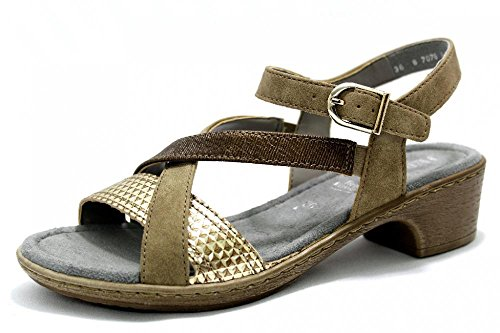 Sandalette Bronze 42 Gr Gold Jenny Ara by Trüffel Damen Ruvido xwngRqP6