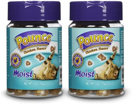 Pounce Moist Chicken Cat Treats, 3 oz Pack of 2