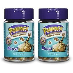 Pounce Moist Chicken Cat Treats, 3 oz (Pack of 2)