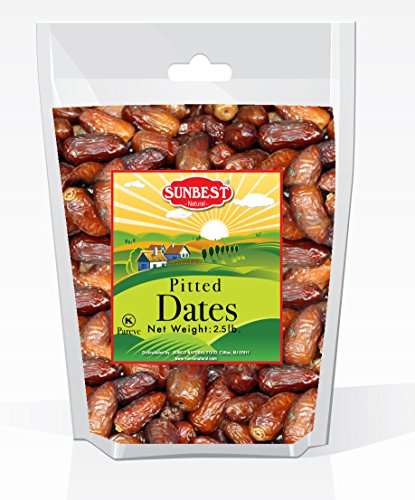 SUNBEST Dried Pitted Dates Deglet product image