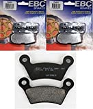 EBC Kevlar Organic Front + Rear Brake Pads (3 Sets) 2010-2012 Can-Am Spyder RT Limited (SE5) FA474 + FA473