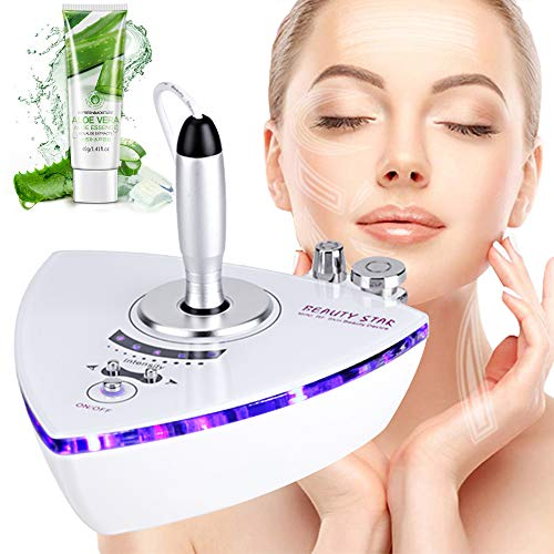 [Upgrade Version] Beauty Star RF Radio Frequency Facial Machine Home Use Portable Facial Machine for Skin Rejuvenation Wrinkle Removal Skin Tightening Anti Aging Skin Care + Free Gift Aloe Vera Gel
