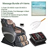 Product review for Massage Bundle of 4 items: Osaki OS-4000D Executive ZERO GRAVITY Flagship Massage Chair in Charcoal, Shiatsu Foot Massager in Black, Head Massager and Double CD with 50 Classics Songs