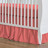 Carousel Designs Solid Coral Crib Skirt Gathered 20-Inch Length