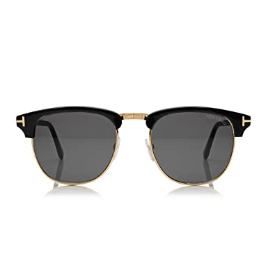 Amazon.com: Tom Ford ft0248 Henry anteojos de sol 05 N Negro ...