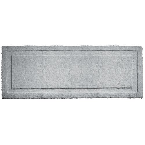 "InterDesign Microfiber Spa Bathroom Accent Rug, 60"" x 21"", (Solid Cotton Chenille Rugs)"