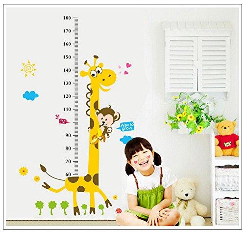 Price comparison product image Kids Height Chart Wall Sticker home Decor Cartoon Giraffe Height Ruler Home Decoration room Decals Wall Art Sticker wallpaper