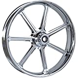 """RC Components Mission Chrome 21"""" Front Wheel - Avon Tire Package for 2000-2007 Harley-Davidson Touring models - RCFWP21-07-MISSION"""