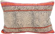 "SARO LIFESTYLE Bohême Collection Boho Mix Oblong Throw Pillow/8416.M1220B, 12"" x 20&quo"