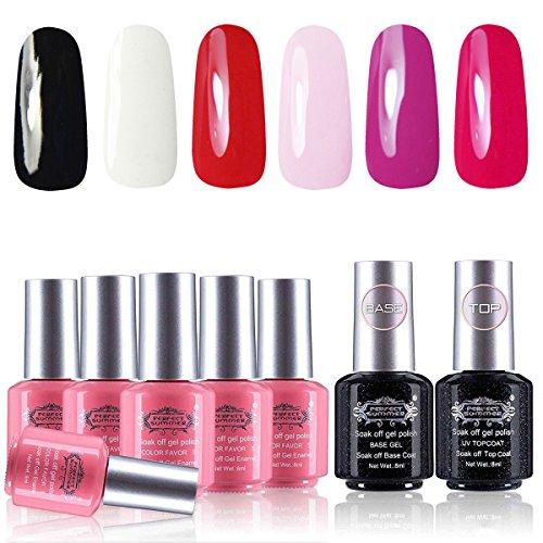 Perfect Summer Gel Nail Polish Set 6PCS Classic Colors Gel N