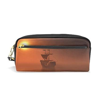 Sunset - Estuche para lápices con diseño de bote, gran ...