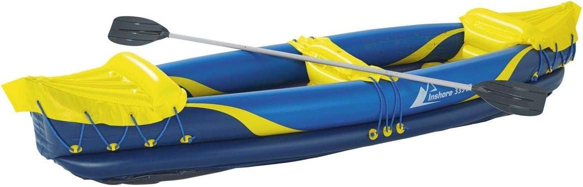 Crivit Beach Inshore 335 – 2 Personas Kayak con Doble de Aluminio Remo Set para reparación – Petate UVM: Amazon.es: Deportes y aire libre