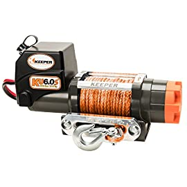 Keeper KU6.0S 12V DC Utility, Trailer and Recovery Winch – 6000 lbs. Capacity