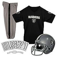 Conjunto de uniforme de fútbol americano Franklin Sports NFL Oakland Raiders Deluxe - Pequeño