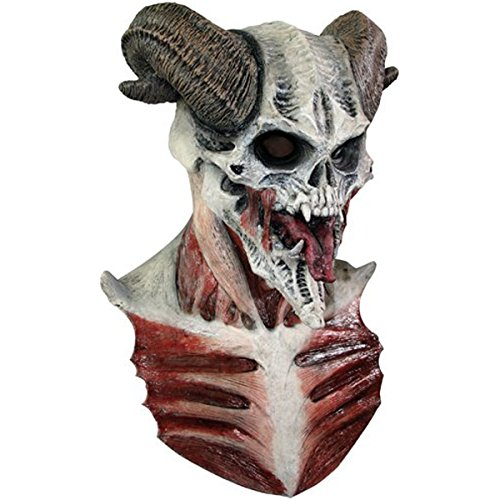 Off the Wall Toys Devil Skull Latex Face Mask Costume ()