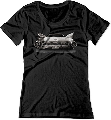 BSW Women's Nice Ass 1959 Cadillac Luxury V8 American Shirt XL Black ()