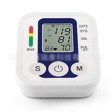 Presión Arterial Digital Brazo Monitor De Con Detector De Ritmo Cardíaco Electrónicos Gran Pantalla Lcdtensiometros De